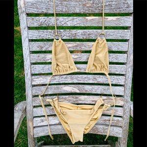 VITAMIN A Gold Bikini set